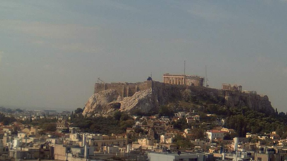 The Acropolis and Parthenon Temple on a beautiful October day!