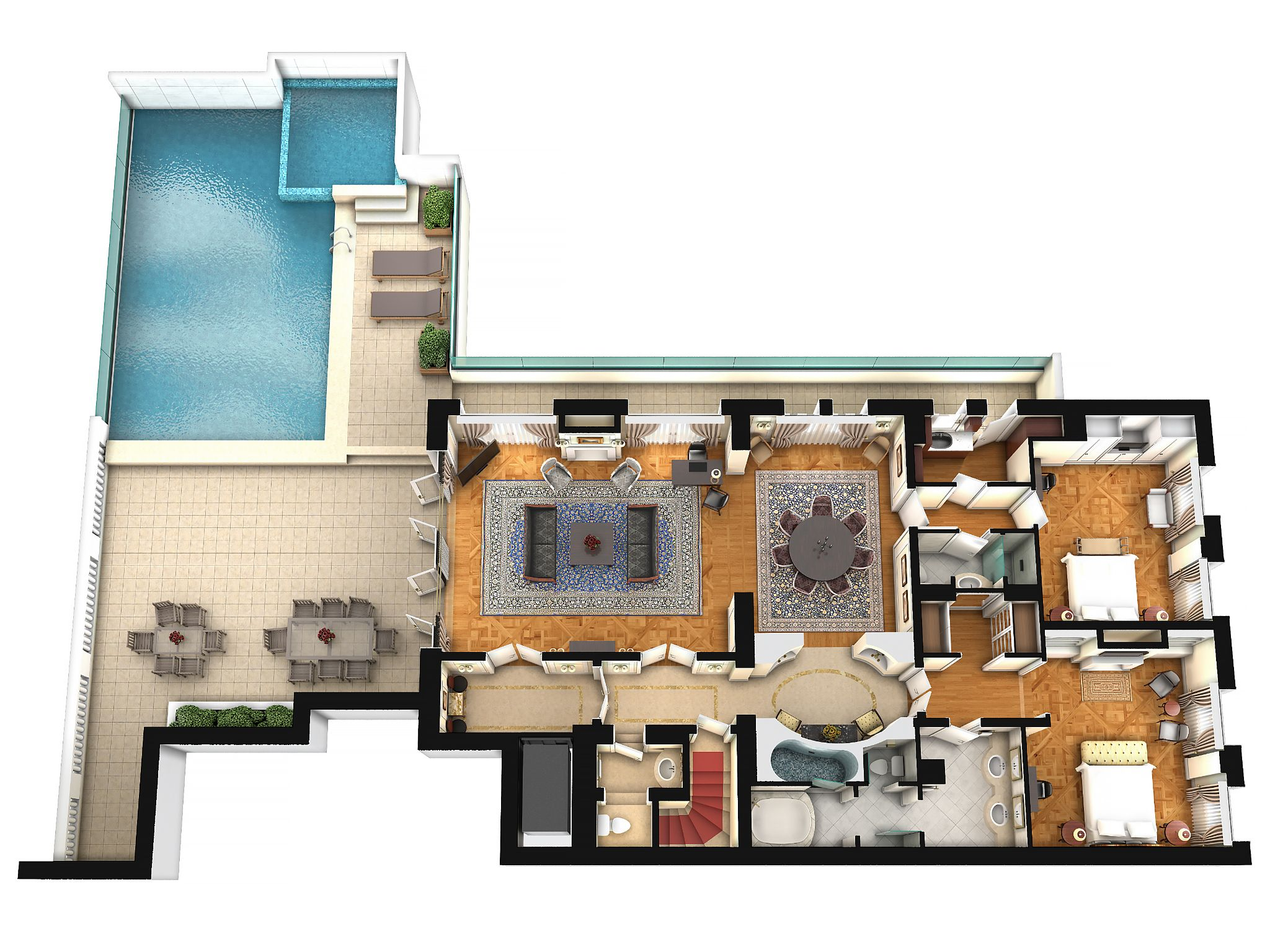 Penthouse Suite on safe house floor plans